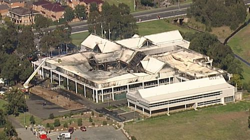 The extent of the damage to Liverpool Council Chambers (9NEWS)