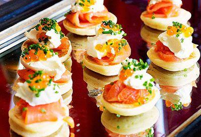 Blinis with smoked salmon