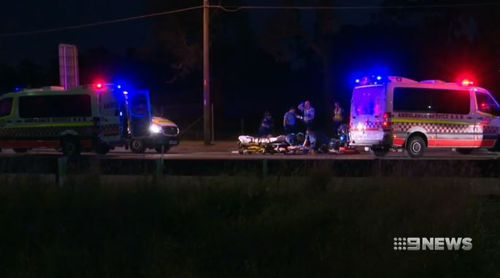 Emergency services were called to the scene of the hit and run early Sunday morning. (9NEWS)