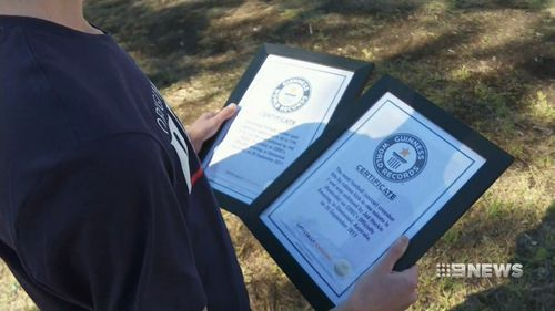 Jed is a two-time Guinness World Record holder. (9NEWS)