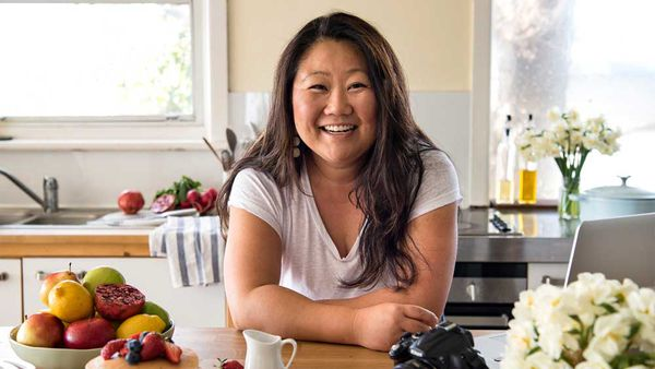 Nagi Maehashi, creator of RecipeTin Eats, pictured in her kitchen. Image: Nagi Maehashi