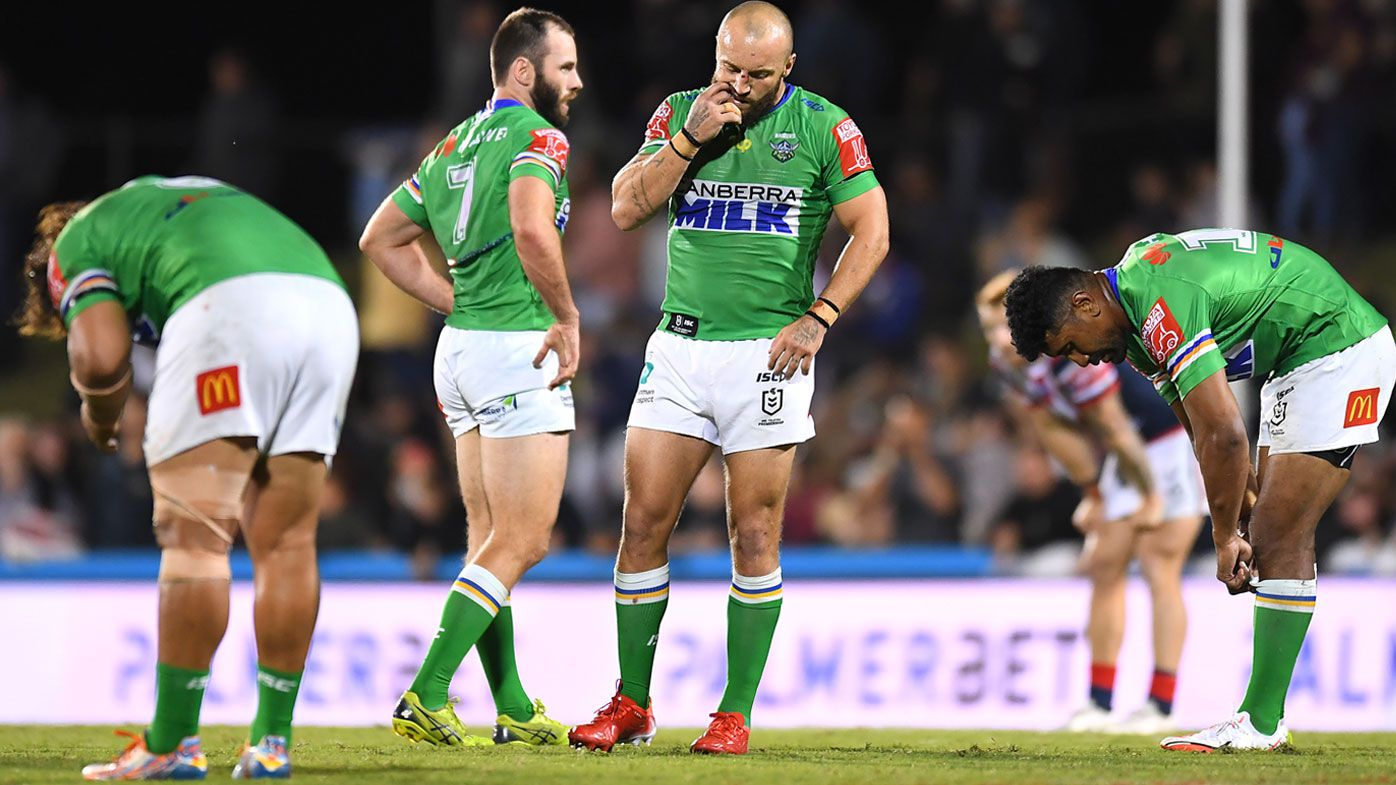 The Raiders' season slumped to a dismal end against the Roosters.