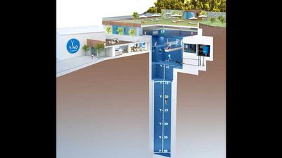 The world's deepest swimming pool has opened in a luxury resort in Venice, Italy. (All images supplied.)