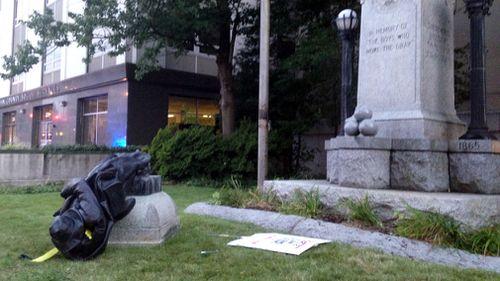 North Carolina has a law protecting Confederate monuments. (AP)