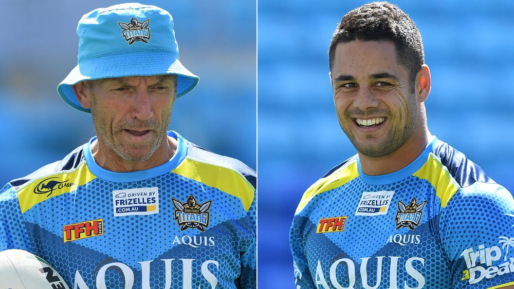 Gold Coast coach Neil Henry walks off after too many Jarryd Hayne questions