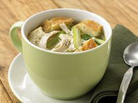 Chicken, celery and bread broth