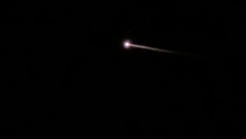A mysterious orange fireball has streaked across Florida's night sky.