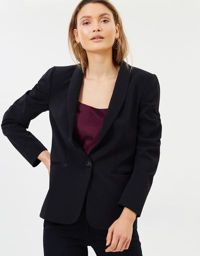 "<a href=""https://www.theiconic.com.au/dressed-to-kill-blazer-576578.html"" target=""_blank"" title=""Bec & Bridge Dressed To Kill Blazer in Black, $420"" draggable=""false"">Bec & Bridge Dressed To Kill Blazer in Black, $420</a>"
