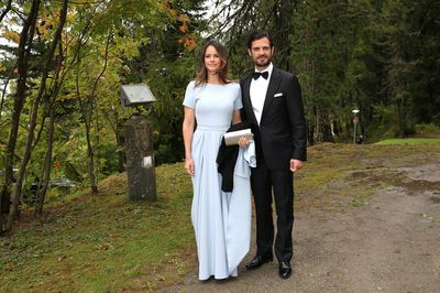 During the wedding of Prince Konstantin of Bavaria and Deniz Kaya at the french church 'Eglise au Bois' on September 1