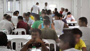 The dining hall at Manus Island Detention Centre.