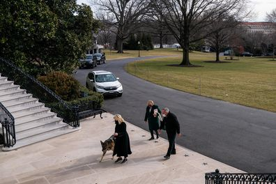 Joe Biden's dogs arrive at the White House