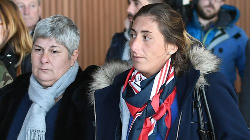 Emiliano Sala's mother Mercedes and sister Romina have arrived to oversee the search for the plane.