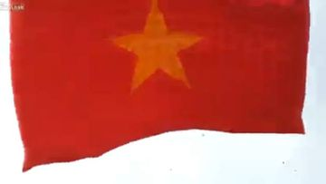 The Vietnamese flag kite was 18m. (Supplied)