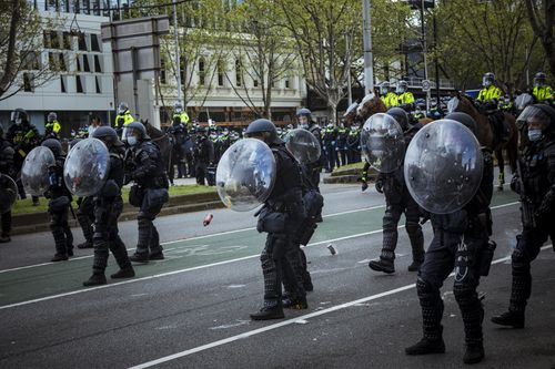 , Police slam 'cowards' involved in Melbourne protest, The World Live Breaking News Coverage & Updates IN ENGLISH