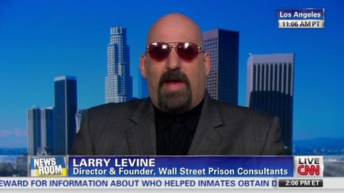 Larry Levine on CNN, providing analysis on life inside US prisons.