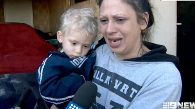 Boy's tearful reunion with mum after being placed in stranger's car