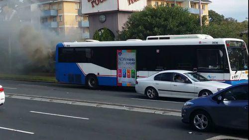 A bus has caught fire in Ashfield in Sydney's inner west. (Supplied)