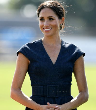 Meghan Markle Carolina Herrara denim dress
