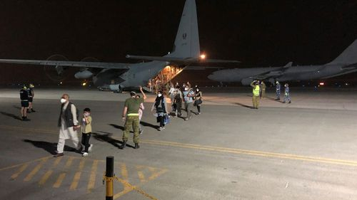 The first 26 people have been evacuated from Afghanistan after the Taliban captured the country.