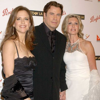 Kelly Preston, John Travolta and Olivia Newton-John in 2006.