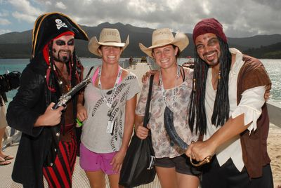 Stack and Mel met some pirates!