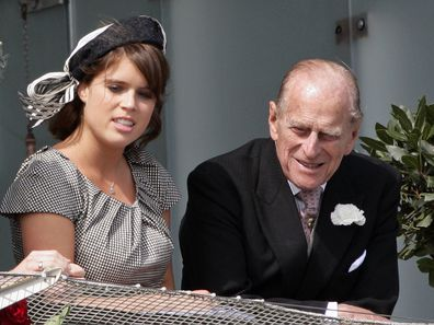 Princess Eugenie and Prince Philip