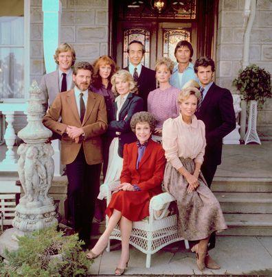 The cast from the premiere season of the primetime soap opera series Falcon Crest