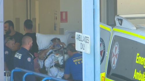The 42-year-old man's injuries are not believed to life-threatening.