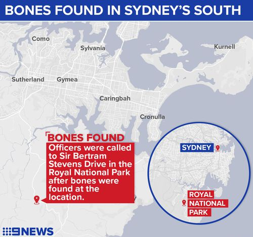 Remains have been located in the Royal National Park, south of Sydney.