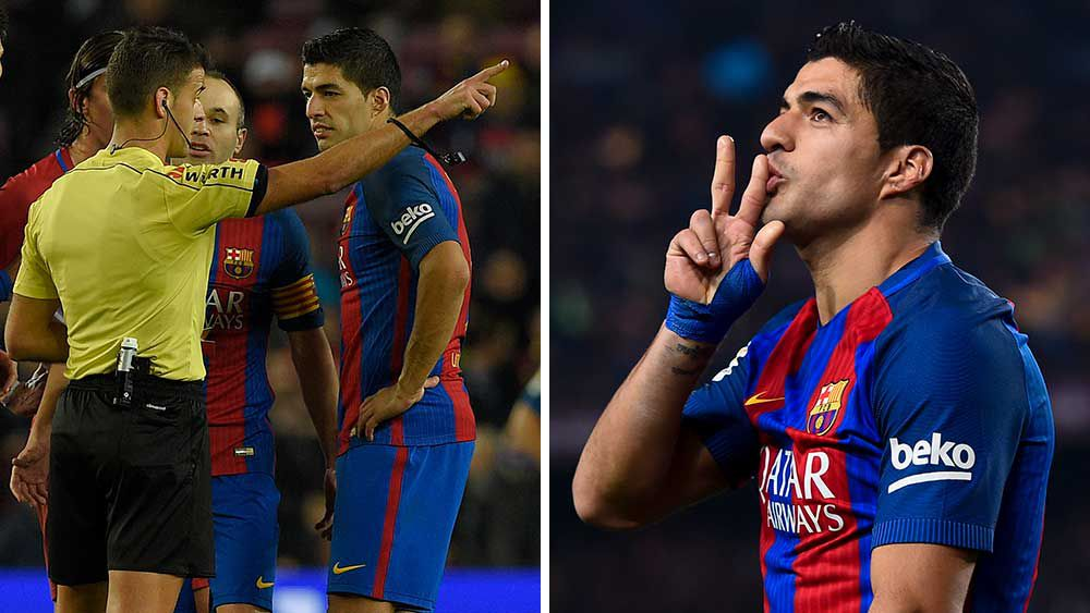 Angry Suarez out off Spanish Cup final
