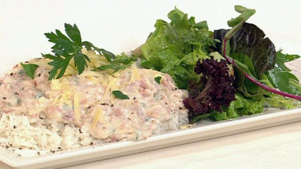 Denise's tasty tuna mornay - cooking from the pantry