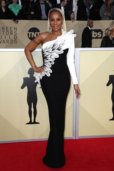 Mary J. Blige in Jean Louis Sabaj at the 2018 SAG Awards