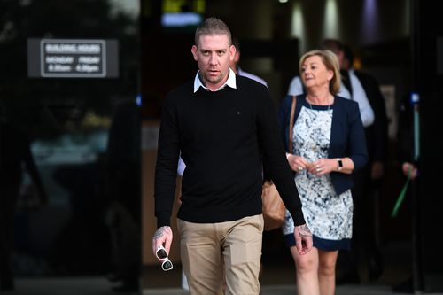 Dreamworld senior ride attendant Sarah Cotter is seen leaving the coroner's inquest into the deaths of four people at Dreamworld in October 2016. Picture: AAP