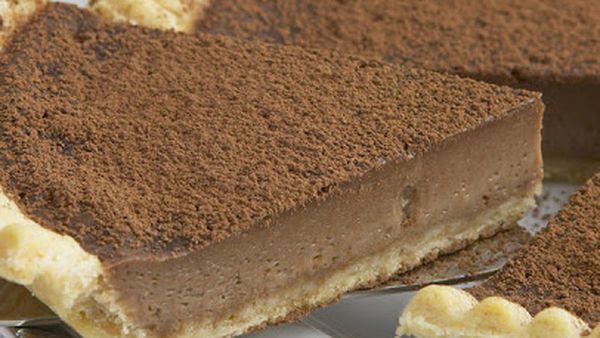 Chocolate and Irish cream custard tart