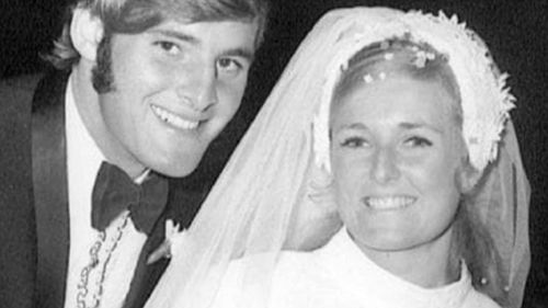 Chris and Lyn Dawson on their wedding day. Lyn disappeared in 1982 and no body has ever been found.