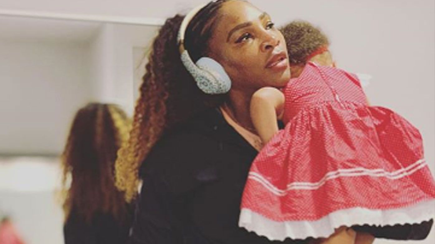 Serena Williams with her daughter Olympia
