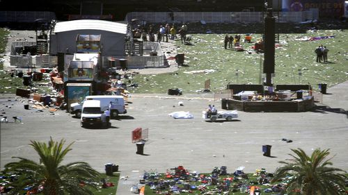 The scene of the shooting. (Image: AP)