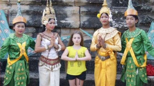 Taya is a proud member of her local Cambodian dance group. (Supplied)