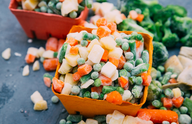 Frozen supermarket vegetables