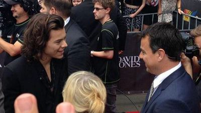 One Direction's Harry Styles arrives. (Picture: Lavina, Twitter)