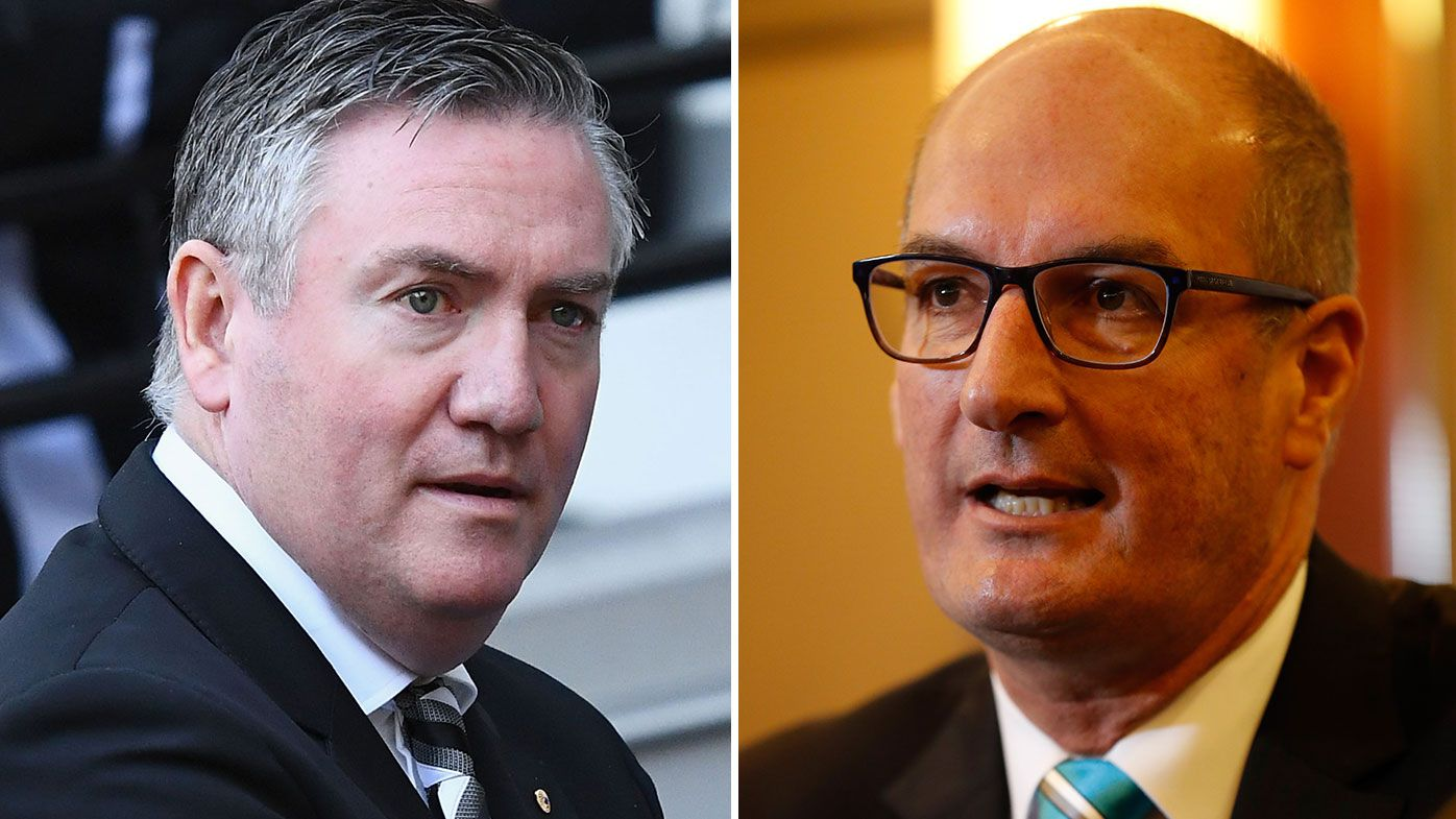Eddie McGuire refers Port Adelaide prison bar guernsey stoush to AFL CEO, lawyers