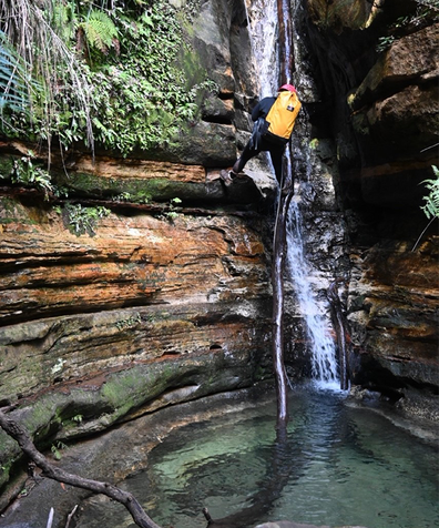 During the tour we descended two waterfalls, waterproofed gear is recommended.
