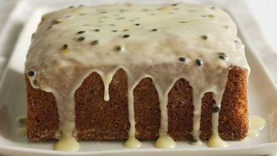 """Recipe:&nbsp;<a href=""""http://kitchen.nine.com.au/2016/05/13/13/41/passionfruit-victoria-sponge"""" target=""""_top"""">Passionfruit Victoria sponge</a>"""