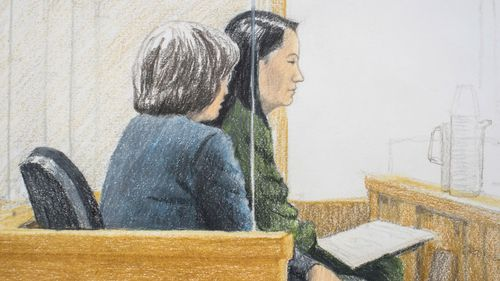 Meng Wanzhou, the chief financial officer of telecommunications giant Huawei and daughter of its founder, faced court in Canada on Friday.