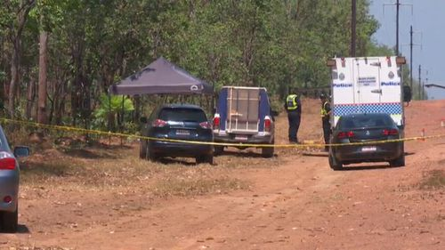 The woman's body was found on the side of the Arnhem Highway.