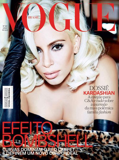 <p><strong><em>Marilyn Moment</em></strong></p> <p>Kim Kardashian, <em>Vogue Brasil June</em> 2015</p>