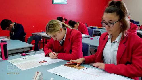A recent UN report card ranked Australia 39th out of 41 advanced countries when it comes to quality of schooling. Picture: 60 Minutes