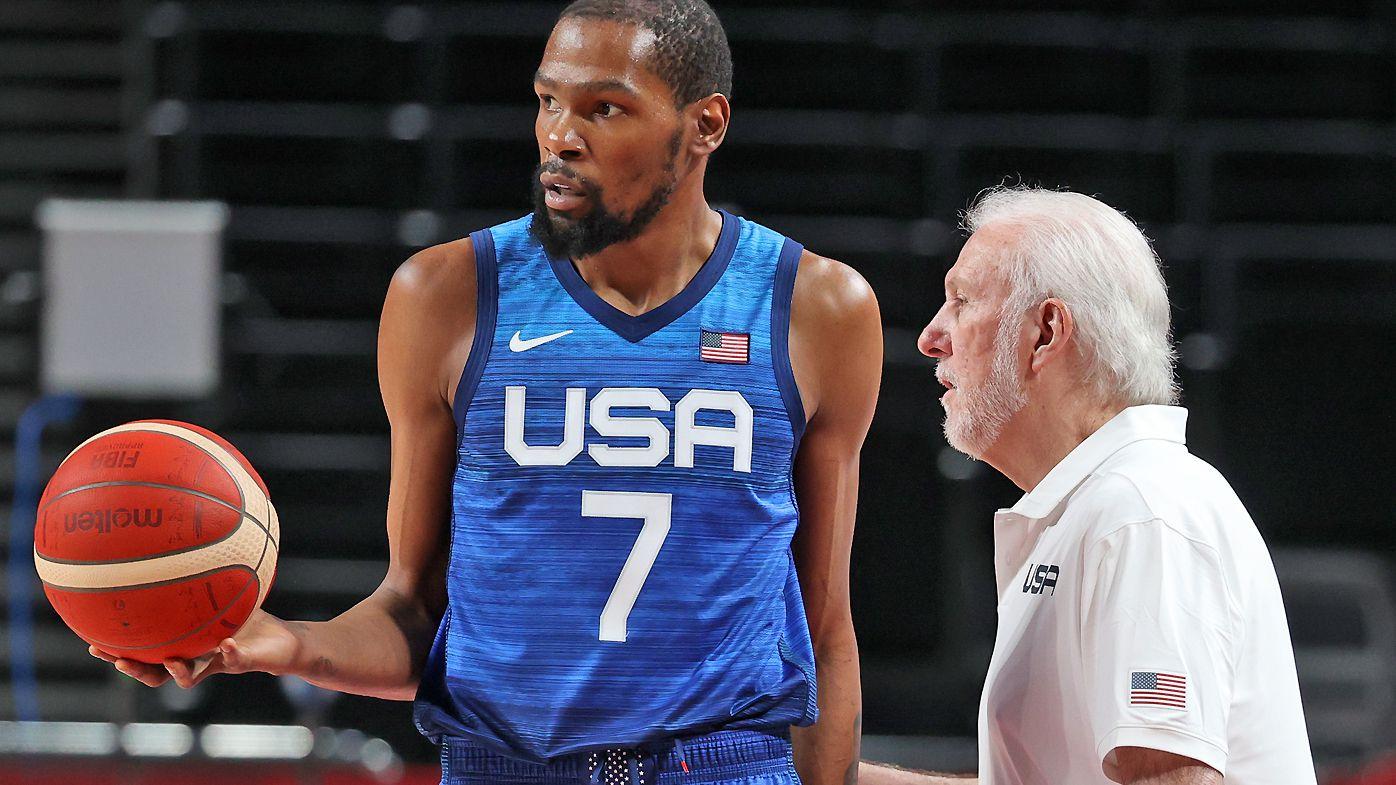 Coach of USA Gregg Popovich, Kevin Durant