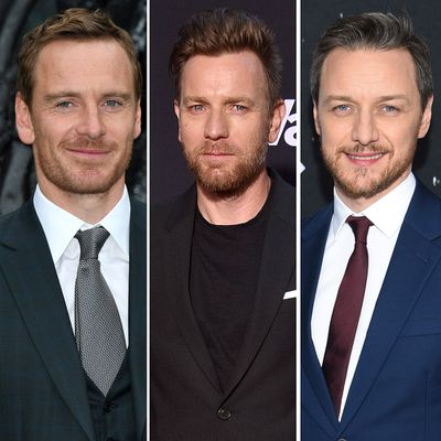 Michael Fassbender, Ewan McGregor and James McAvoy