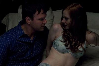 Hoyt (Jim Parrack) and Jessica (Deborah Ann Woll) shared a few intimate moments.